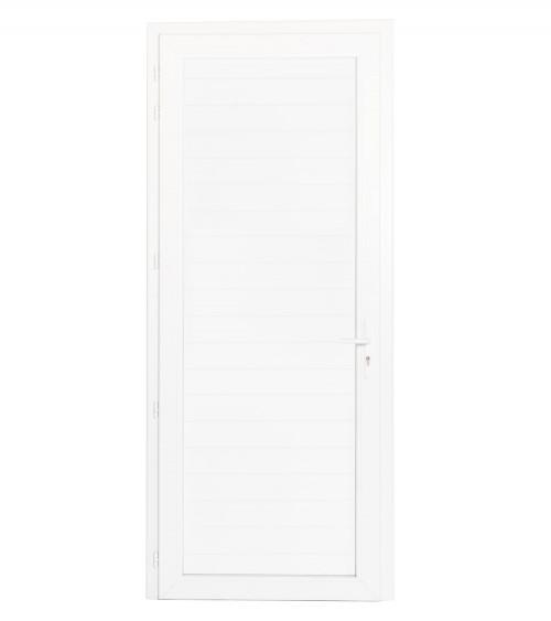 Porte pleine PVC avec serrure 1 vantail OF/OA