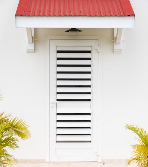 Porte 1 vantail OF Jalousie intégrée
